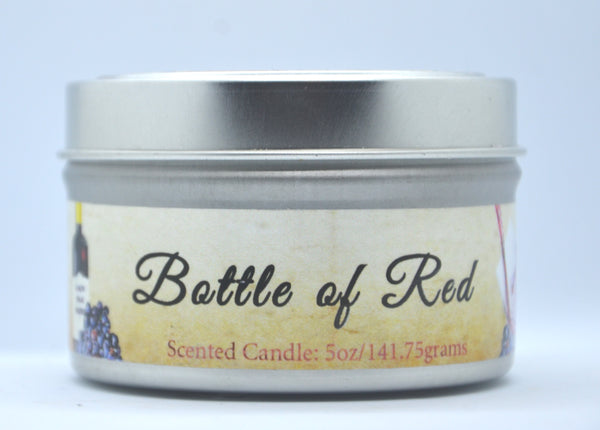 5oz Bottle of Red Candle