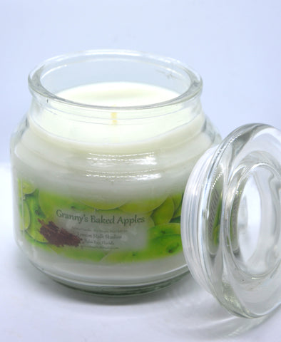 Apple Cinnamon Candle Open