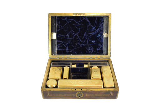 Victorian Silver Gilt Antique Travelling Toilet Set