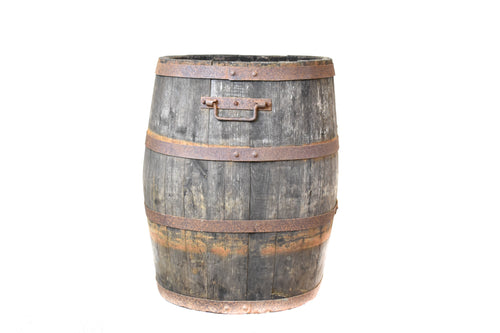 Vintage Oak Coopered Grape Barrel