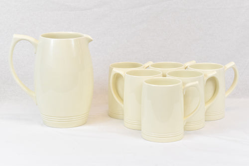 Vintage Keith Murray Wedgwood Lemonade Set In Moonstone Glaze
