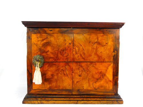 18th Century Antique Walnut Spice Cabinet