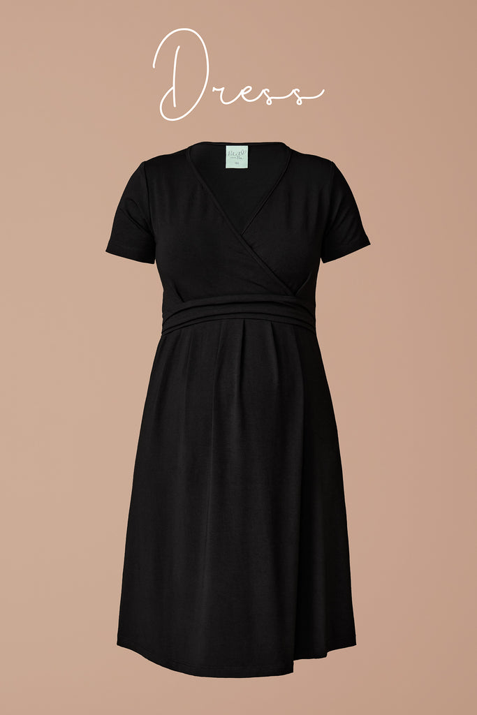 "Soft, chic and easy to wear, our Maternity & Nursing Dress is the only ""Little Black Dress"" you will need for your pregnancy."