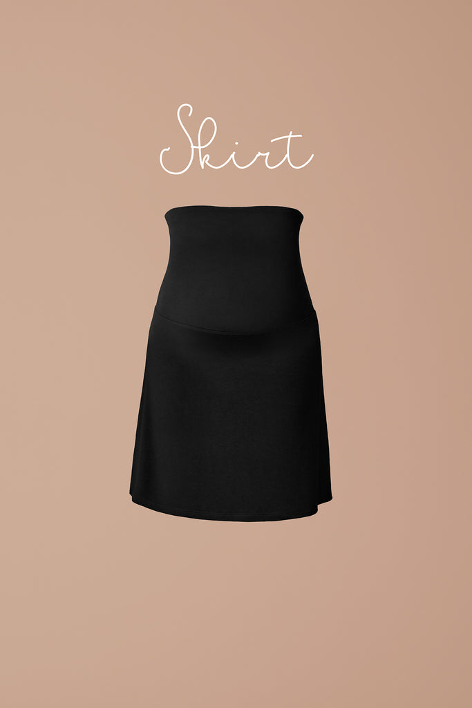 Falling in a flattering A-line, the Petit Skirt features a soft fold-down waistband, allowing you to adjust its fit and length.
