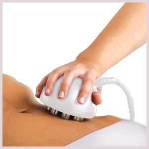 A client receiving a body sculpting treatment