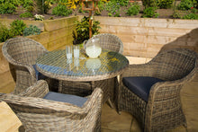 Load image into Gallery viewer, Rattan 4 Seater Round Outdoor Dining Set