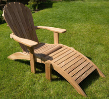 Load image into Gallery viewer, Grade A Teak Adirondack Chair with Ottoman Footrest