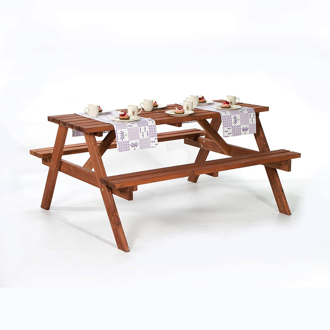 A-Frame 6 Seat Picnic Table Bench