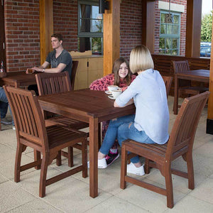 Robust Hardwood 4 Seater Dining Set With Square Table