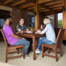 Load image into Gallery viewer, Robust Hardwood 4 Seater Dining Set With Square Table