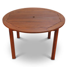 Load image into Gallery viewer, Robust Hardwood 4 Seater Dining Set With 120cm Diameter Round Table