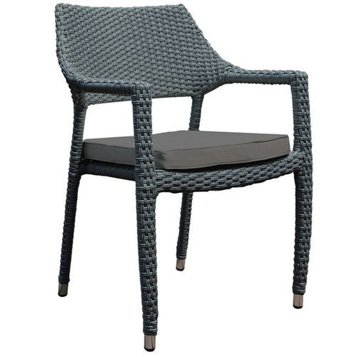 Oasis Stacking Armchair with Dark Grey Cushion