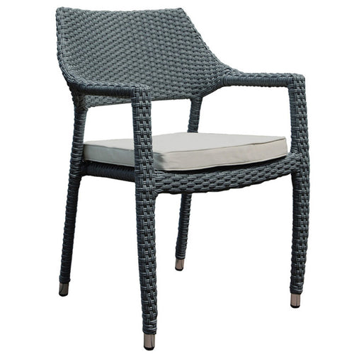 Oasis Stacking Armchair with Light Grey Cushion