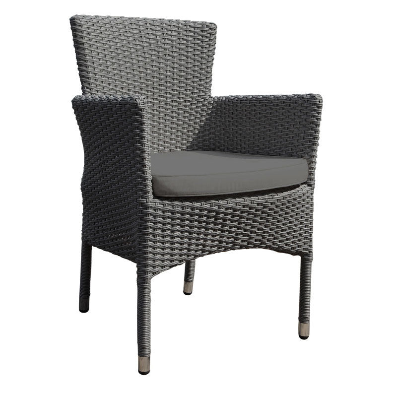 Oasis Rattan Stacking Armchair with Dark Grey Cushion