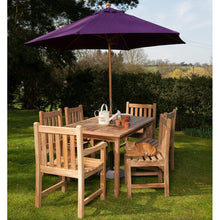 Load image into Gallery viewer, Teak 6 Seater Outdoor Dining Set