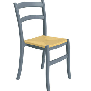 Juliet Plastic Side Chair Dark Grey