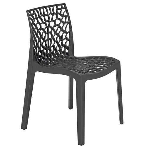 Neptune Polypropylene Anthracite Black Plastic Chair