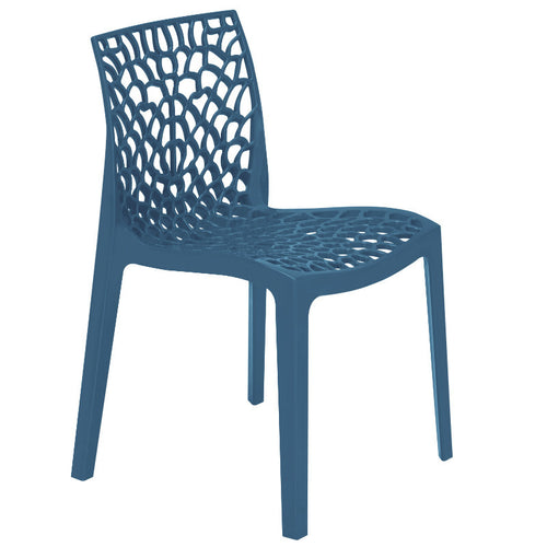 Neptune Polypropylene Avio Blue Plastic Chair