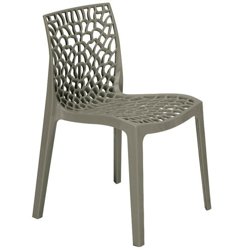 Neptune Polypropylene Pearl Grey Plastic Chair