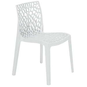 Neptune Polypropylene Bianco White Plastic Chair