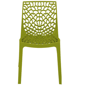 Neptune Polypropylene Plastic Chair Anise Green