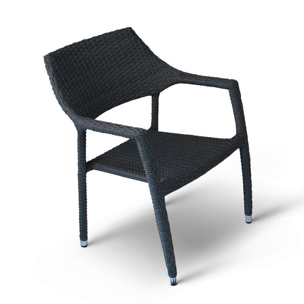 Rattan Garden Armchair Rattan Stacking Arm Chair Outdoor Furniture Cafe Chairs