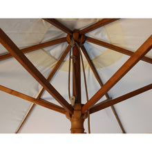 Load image into Gallery viewer, 2.5M Parasol Hardwood Garden Umbrella, Natural, Pulley Operated