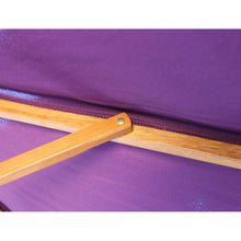 Load image into Gallery viewer, 2.5M Parasol Hardwood Garden Umbrella, Purple, Pulley Operated