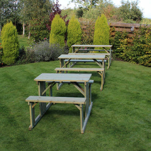 Walk In 6 Seater Pine Picnic Table