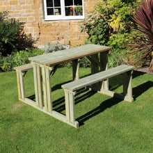 Load image into Gallery viewer, Walk In 6 Seater Pine Picnic Table