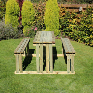 Walk In 8 Seater Pine Picnic Table