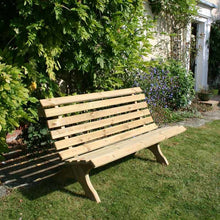 Load image into Gallery viewer, Lilly 3 Seat Outdoor Wooden Garden Bench