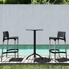 Load image into Gallery viewer, Pluto Black Outdoor Bar Table