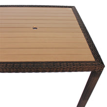 Load image into Gallery viewer, Rattan and Plaswood Square Table 90cm x 90cm