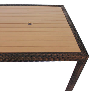 Rattan and Plaswood Square Table 90cm x 90cm