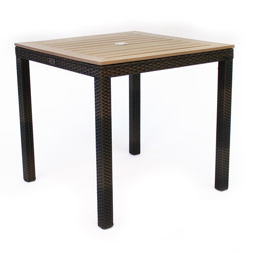 Rattan and Plaswood Square Table 80cm x 80cm