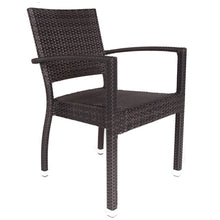 Load image into Gallery viewer, Apollo 4 Seat Rattan Outdoor Dining Set with Inlaid Glass Square Top