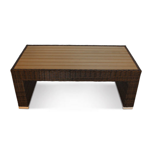 Luxury Rattan Outdoor Coffee Table with Plaswood Table Top