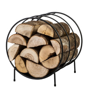 Circular Steel Log Store - Wood Rack
