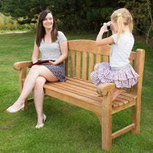 Load image into Gallery viewer, Ultra Luxury Grade A Teak Garden Bench 3 Seater 150cm