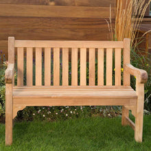 Load image into Gallery viewer, Premier Grade A Teak Garden Bench 2 Seater 120cm