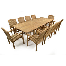 Load image into Gallery viewer, Large Ten Seater Double Extending Outdoor Dining Set