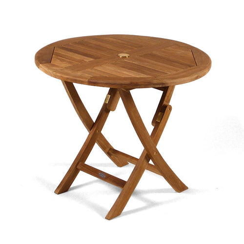 Folding Round 90cm Teak Table