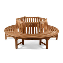 Load image into Gallery viewer, Large Circular Tree Seat Wooden Garden Bench