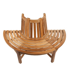 Load image into Gallery viewer, Small Half Round Teak Tree Garden Bench Trees up to 50cm