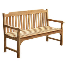 Load image into Gallery viewer, Grade A Teak Garden Bench 3 Seater 150cm