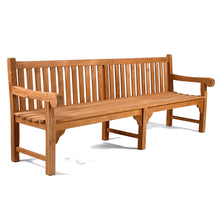 Load image into Gallery viewer, Luxury Grade A Teak Extra Long Garden Bench 6 Seater 240cm