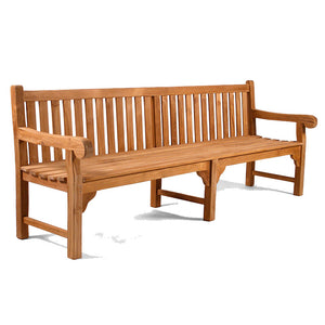 Luxury Grade A Teak Extra Long Garden Bench 6 Seater 240cm