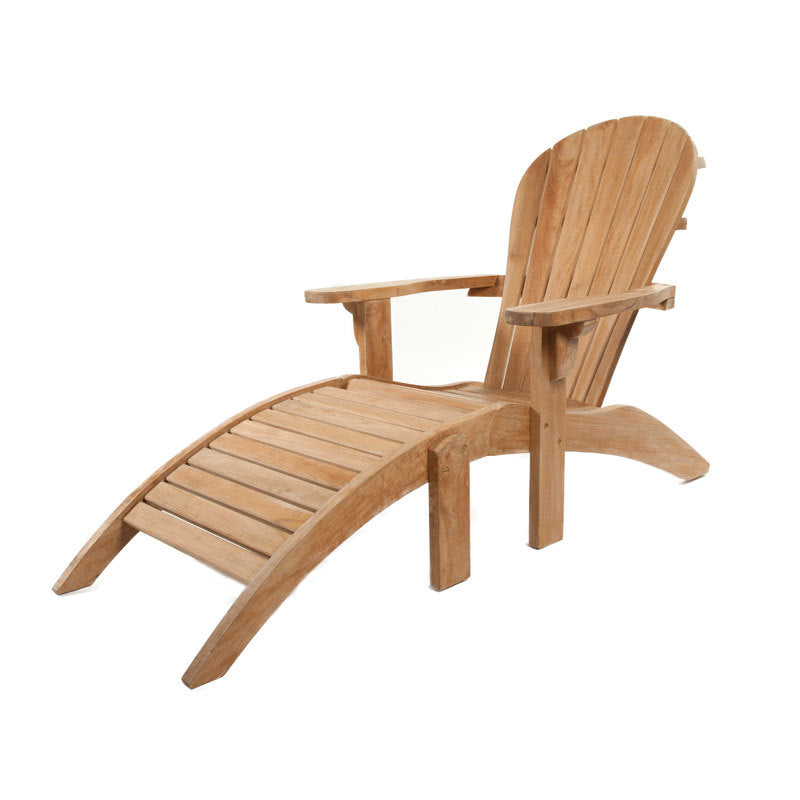 Peachy Grade A Teak Adirondack Chair With Ottoman Footrest Andrewgaddart Wooden Chair Designs For Living Room Andrewgaddartcom