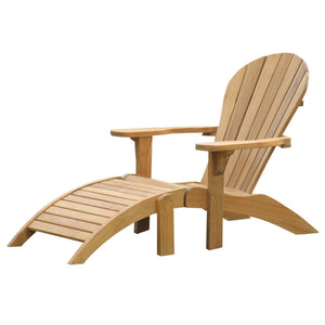 Grade A Teak Adirondack Chair with Ottoman Footrest